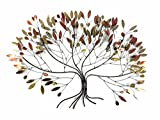 New Contemporary Metal Wall Art Picture Or Sculpture – Large Autum Leaves - BWA - amazon.co.uk