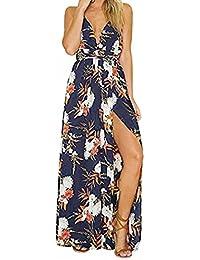 Vestito da Donna Elegante   feiXIANG® Donne Estate Sexy Boho Lungo Vestito  da Sera Abito da Spiaggia… 064abe96098