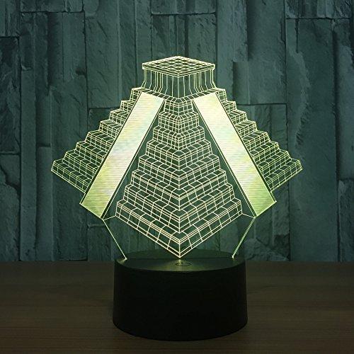 3d Lampe 3D Licht Led Nachtlicht Pyramide In Mexiko Licht 7 Farben Wechsel Lampe Usb Nachttisch Nachtlicht Schlafzimmer Dekor Geschenke Halloween Geschenk (In Halloween Mexiko)