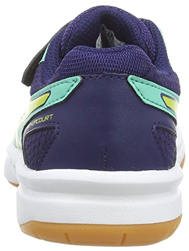 ASICS - Pre-Upcourt Ps, Scarpe Sportive Indoor, infantile Blu (Aqua Mint/Flash Yellow/Indigo 7007)