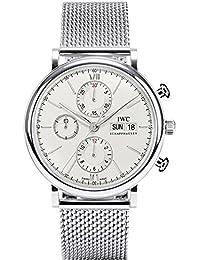 IWC Men's Portofino 42mm Steel Bracelet & Case Sapphire Crystal Automatic Silver-Tone Dial Watch IW391009