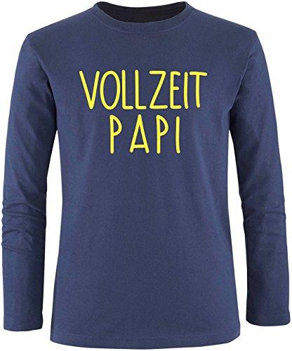 EZYshirt® Vollzeit Papi Herren Longsleeve Navy/Gelb