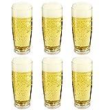 Viva Haushaltswaren 6 bruchfeste Biergläser aus hochwertigem Kunststoff 350 ml
