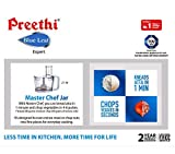 Preethi MG214 Blue Leaf Expert 750 W Mixer Grinder with Master Chef jar