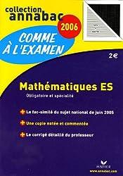 Mathématiques ES : Obligatoire et spécialité