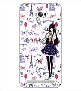 PrintDhaba Fantasy Girl D-1027 Back Case Cover for ASUS ZENFONE MAX ZC550KL (2016) (Multi-Coloured)