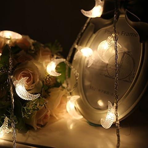 Las luces estroboscópicas led impermeable linterna cadena Star batería luna pequeñas habitaciones están decoradas en tonos claros del Carnaval