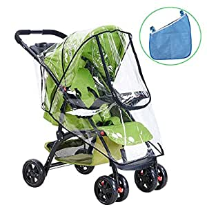 universal baby stroller rain cover and buggy storage bag