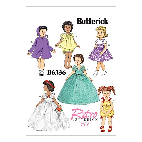 Butterick Schnittmuster 6336OSZ Puppe Kleidung nähen Muster, 18 - Muster Kleidung Puppe