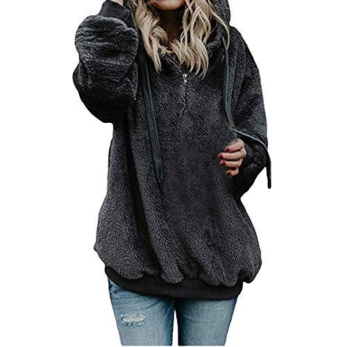 Bazhahei donna top,felpe con cappuccio donna taglie forti zip cerniera felpe tumblr ragazza eleganti donna sweatshirt donna tumblr maniche lunghe - donna giacca inverno cotone outwear
