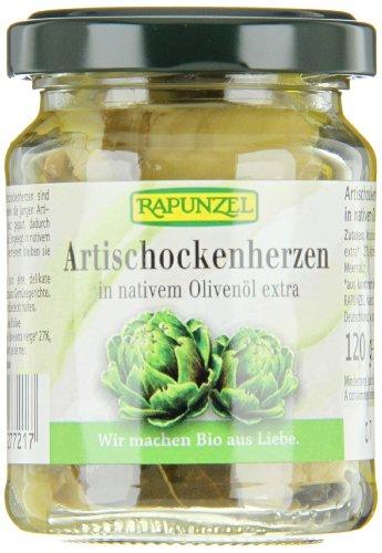 Rapunzel Artischockenherzen in Olivenöl, 3er Pack (3 x 120 g) - Bio