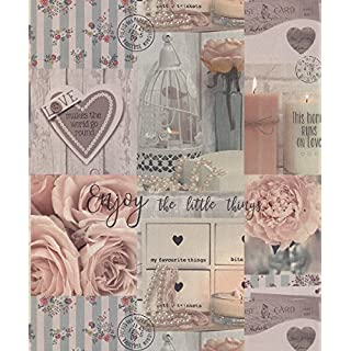 Arthouse Diamond Rose Blush Wallpaper 259900 - Glitter Photo Floral Novelty Love