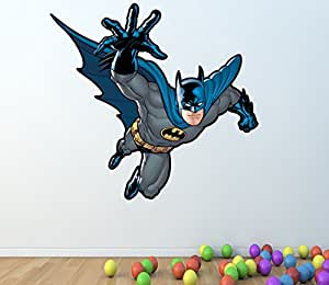BATMAN FULL COLOUR WALL STICKER - GIRLS BOYS BEDROOM C285 Size: Large