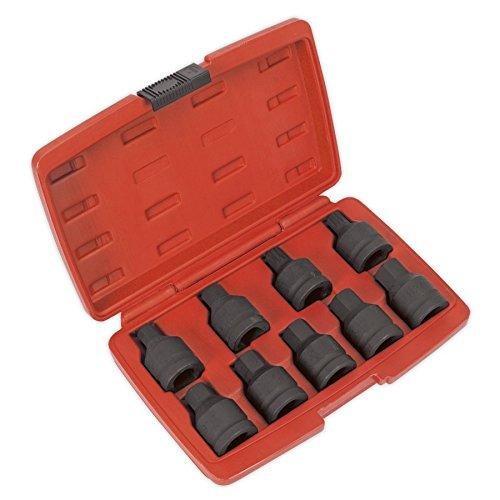 Sealey Hex Socket Bit (SEALEY Auswirkungen Spline & Innensechskant Bit Set 9pc 3/4