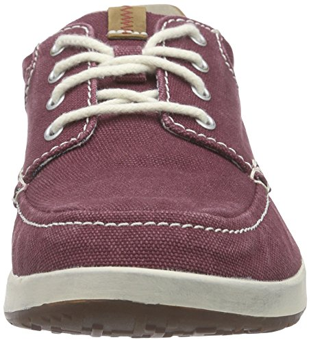 Clarks Norwin Vibe Mens Derby Stringato Rosso (bordeaux)