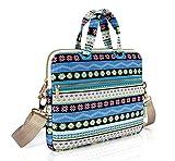 Best kayond Messenger Bags - KAYOND Blue Snowflakes Patten Canvas Laptop Shoulder Messenger Review