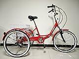 Erwachsene faltendes Dreirad, 24 'Räder, 6 Geschwindigkeit shimano Zahnräder, Erwachsenentrike,...