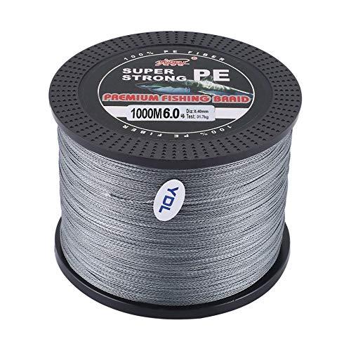 WEIWEITOE-DE YUDELI 1000m Super Power PE Braided Fishing Line Abrasion Resistant 0.4mm High Sensitivity 31.7kg Zero Stretch Fishing Line
