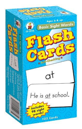 Basic Sight Words Flash Cards, Ages 6-9