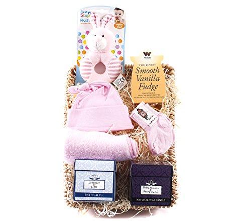 wickers Mutter & Baby-Geschenkkorb–Girl | wickers Geschenk Körbe