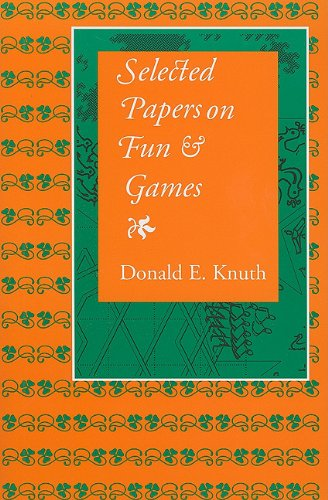 Selected Papers on Fun and Games (Center for the Study of Language and Information - Lecture Notes, Band 192)