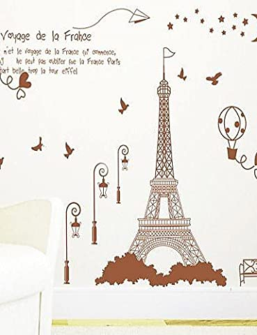 Removable Romantic Tower Shaped of Living Room/ Bedroom Wall Sticker