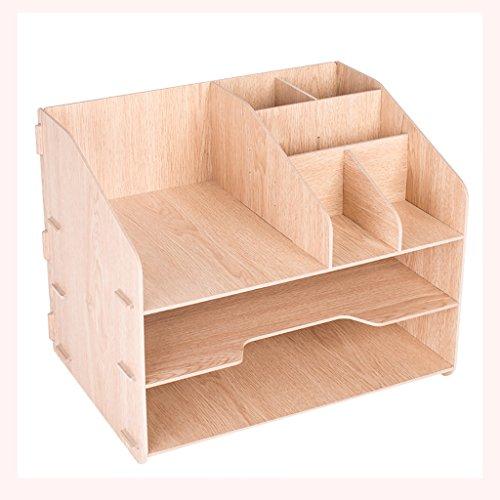 New style Multifunktions DIN A4 Dokumentenregal, Aktenschrank aus Holz, Kassenschrank, Warenregal, Aufbewahrungsbox. (Farbe : A)