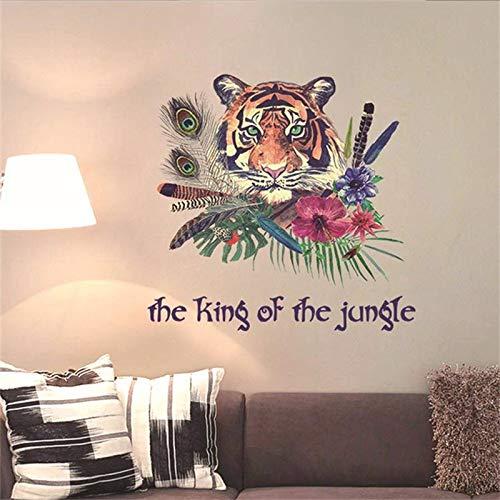 Kreative Stamm Wind Tier Tiger Wandaufkleber Wohnzimmer Schlafzimmer Sofa Tv Wanddekoration Personalisierte Aufkleber Tiger Wandbild - Bambus-stamm Material