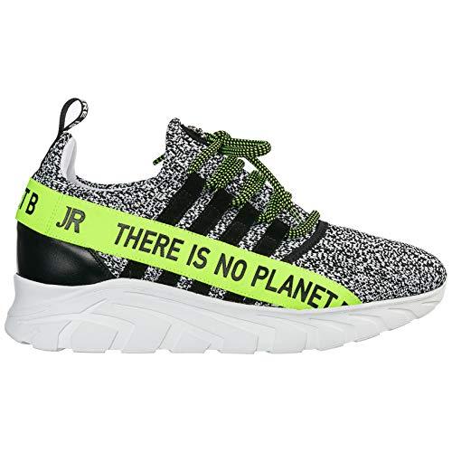John Richmond Herren No Planet B Sneaker Bianco 40 EU
