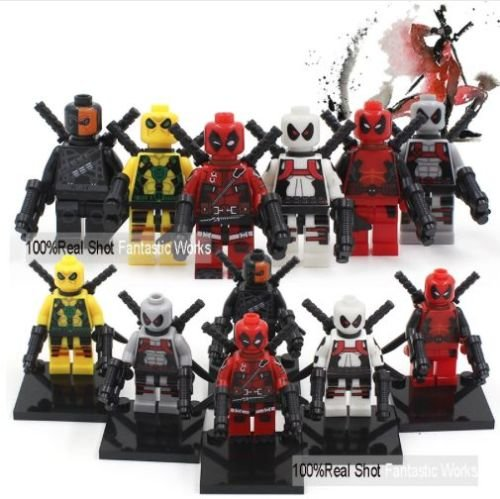 mini figures star wars marvel avengers toy man keyrings dc super fits with lego Deadpool - 8 mini figures