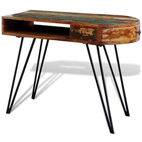 Anself - Escritorio hecho mano cajón madera maciza,piernas
