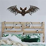 Jkhhi Halloween Horror Bat Wandaufkleber Muster Hintergrundbild Kunstdrucke Wanddekoration...