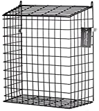 Buckingham 30052Front Tür Buchstabe Käfig, Guard, Korb, Mail-Catcher, Post Box, Briefkasten, vormontiert, schwarz