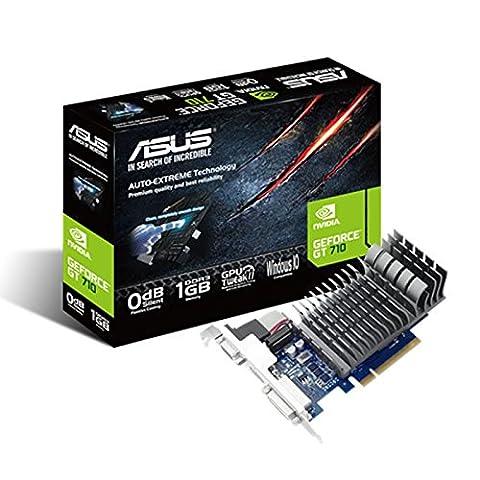 Asus GT710-1-SL Nvidia GeForce Grafikkarte (1GB DDR3 Speicher, PCIe 2.0, HDMI, DVI)