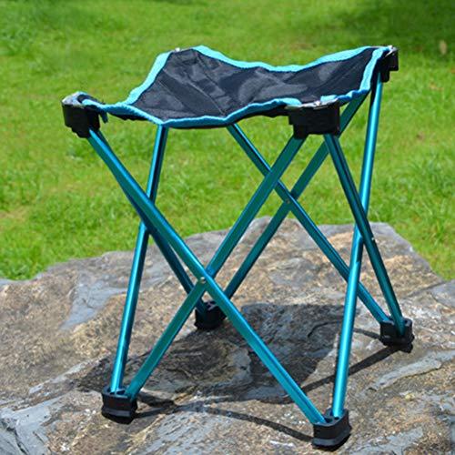EisEyen Aluminiumlegierung Klapphocker Mini Ultraleicht Tragbare Sitz Outdoor Sport Camping Reise BBQ Angeln Stuhl (Mini-falte-stuhl)