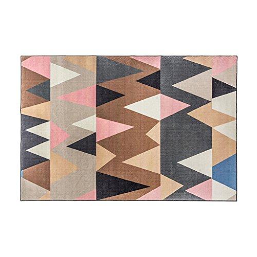 XXY Tappeti Tappeti Tappeti rettangolari Tappeti semplici da tè Tavolini Tappeti Divani Tappeti Camera da Letto Tavolini Tappeti Geometrici (Color : Pink, Size : 140 * 200CM)