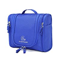 Auriga Voyage Premium Hanging Toiletry Travel Organiser. Strong Light Waterproof Multipocket Shower & Shaving Wash Bag. Bathroom Cosmetic Makeup Baby Camping Personal Accessories Storage (Blue) 18