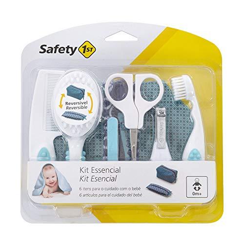 Safety 1st 3106004000 Kleines Pflegeset für Babys und Kleinkinder, 7-teilig, inklusive hübscher und wendbarer Kulturtasche aus Stoff, mehrfarbig