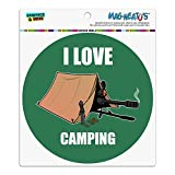 I love camping Sniper Shooting Gaming Gamer Automotive Car Kühlschrank Locker Vinyl Kreis Magnet