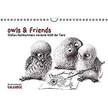 owls & friends Immerwährender Kalender (Wandkalender immerwährend DIN A4 quer): Stefan Kahlhammers fabelhafte Tierwelt (Monatskalender, 14 Seiten) (CALVENDO Spass)