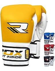 RDX Guantes de Boxeo Elite Muay Thai Kick Boxing Sparring Saco Entrenamiento Adulto Cuero Genuine Vacuno Combate Boxing Gloves