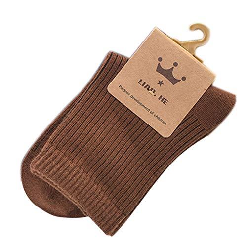 5 Paar Unisex Newborn Solid Color Cotton Socken Geschenke Baby Einfacher Herbst warme Socken ()