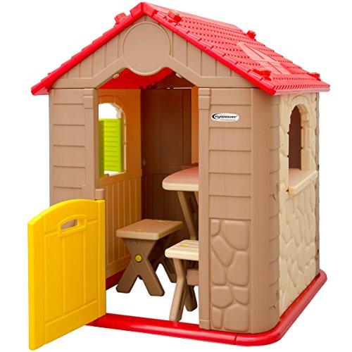 Casa de juegos para ni os y ni as 1 mesa 2 taburetes for Casas de plastico para ninos