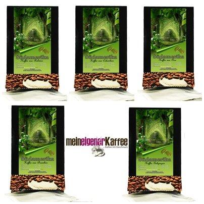 Kaffeepads Pobierpaket Länder Kaffee Südamerika 5 x 3 Pads