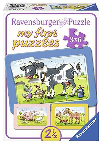 Gute Tierfreunde, my first puzzles 3x6 Rahmenpuzzle (Geschenke Für 2-jährige Mädchen)