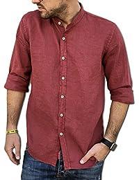 half off 05f36 52e87 Amazon.it: camicia lino - Rosso / Uomo: Abbigliamento
