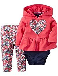 Keephen Variedad de Ropa de bebé para niños y niñas suéter de Manga Larga con Capucha (Tres Piezas)