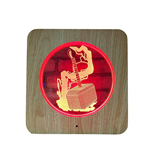 Lámpara de acrílico tallada de madera