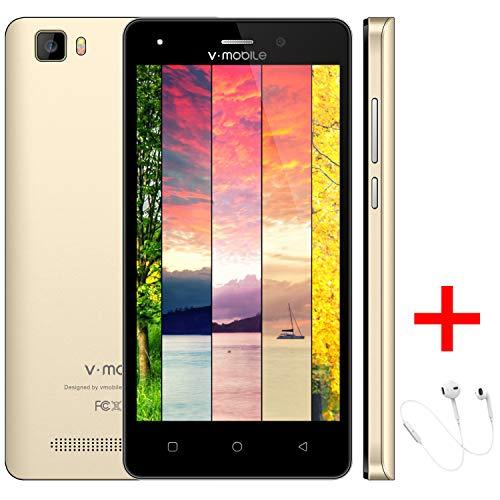Moviles Baratos Android 7 v*mobile A10 (+Case) Smartphone Baratos libres Quad Core 8GB ROM 5 Pulgadas Pantallas Moviles...