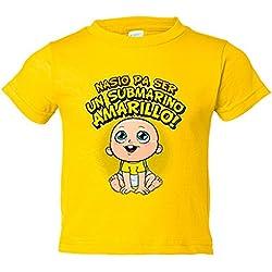 Camiseta niño nacido para ser un submarino amarillo Cádiz fútbol - Amarillo, 3-4 años